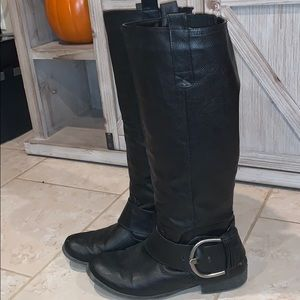 JustFab Women's Tall Boots Wide Calf Size 10